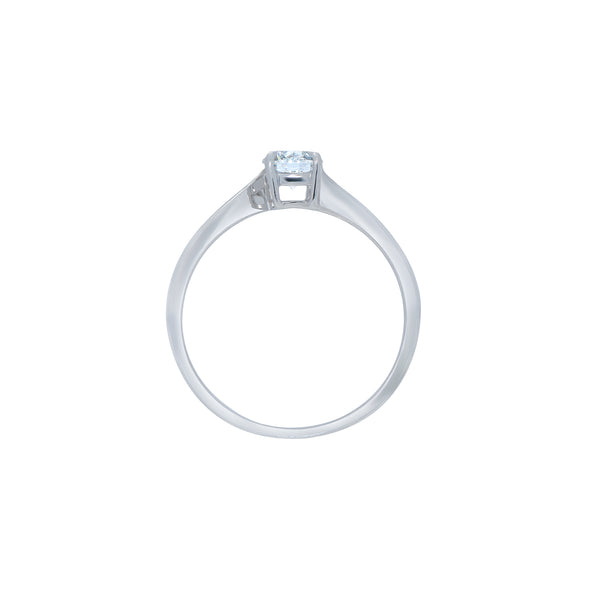 0.50CT,  F, VVS1, TWIST ENGAGEMENT RING