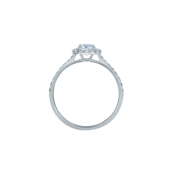 0.40CT, E, VVS2 MIRAGE ENGAGEMENT RING