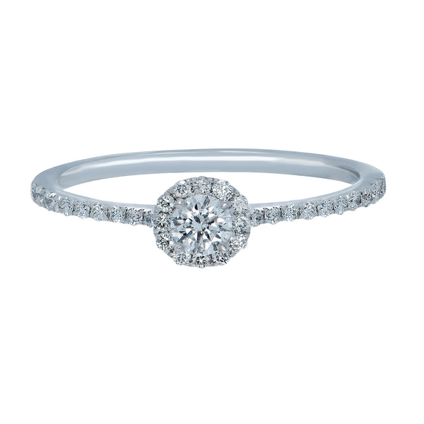 0.15ct Mirage Setting Diamond Engagement Ring