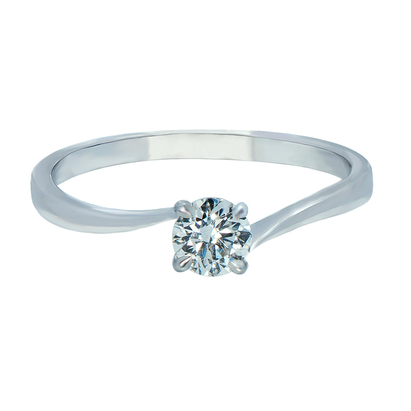 0.15ct Twist Setting Diamond Engagement Ring