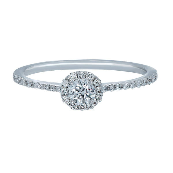 0.18ct, F, VVS2 Mirage Engagement Ring