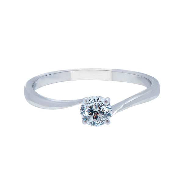 0.18ct Twist Setting Diamond Engagement Ring