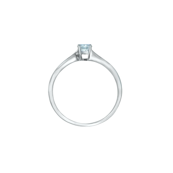 0.20ct Twist Setting Diamond Engagement Ring