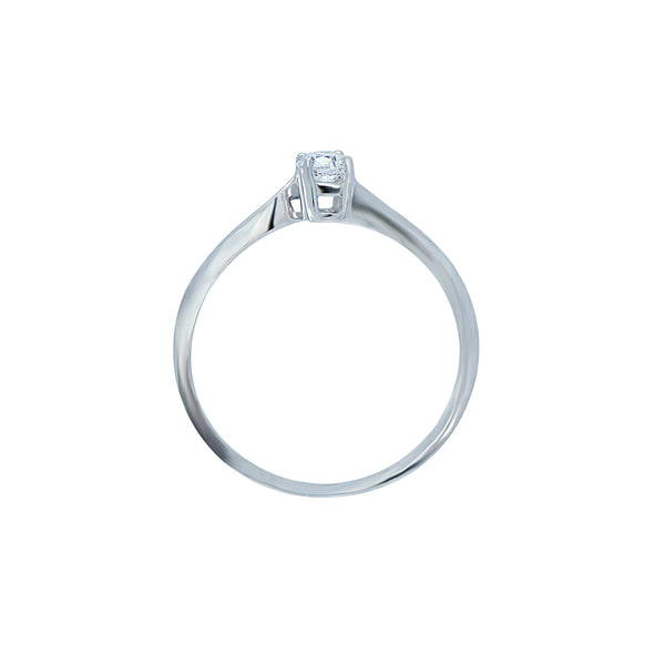 0.25ct Twist Setting Diamond Engagement Ring