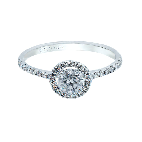 0.40CT, F, VVS2 Mirage Setting Diamond Ring