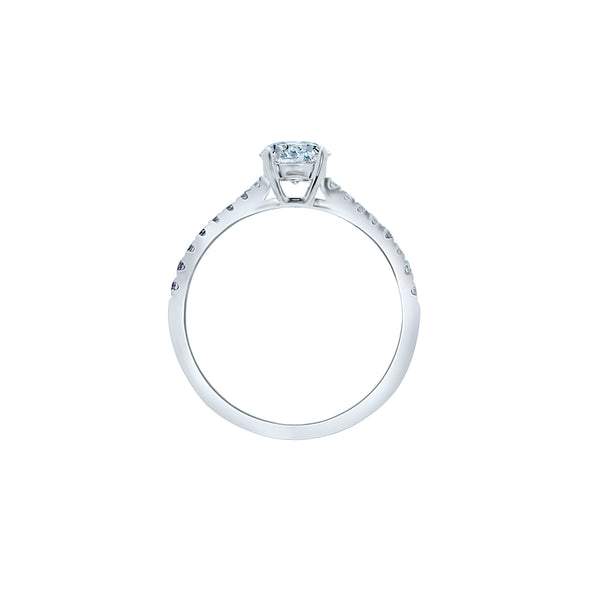 0.40CT, F, VVS2 Aria Setting Engagement Ring