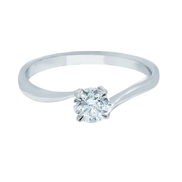 0.40CT, D, VVS1 Twist Setting Diamond Ring