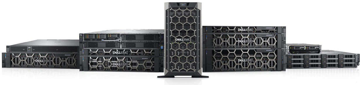 poweredge enterprise servers lined up