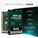 "300GB 10K SAS 6Gb/s 2.5"" HDD for HPE ProLiant Servers 