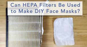 How do HEPA filters in N95 masks filter air?