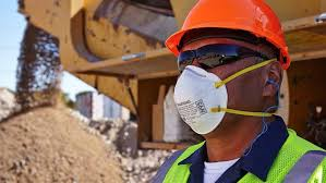 Why do construction workers wear N95 masks?