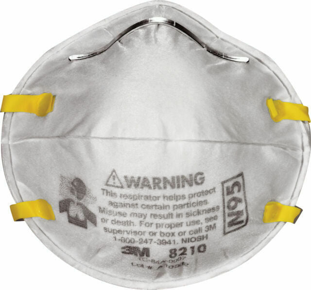 What industries is the 3M 8210 N95 respirator best for?