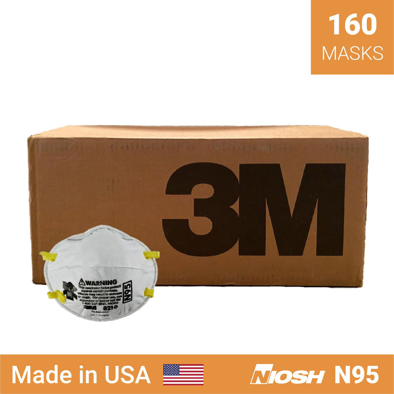 3M 8210 respirator | N95 respirator x 160 | NIOSH - Clinical Supplies USA