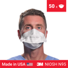 3M 1804S mask <br> N95 mask (NIOSH) x 50 <br> IN STOCK - Clinical Supplies USA