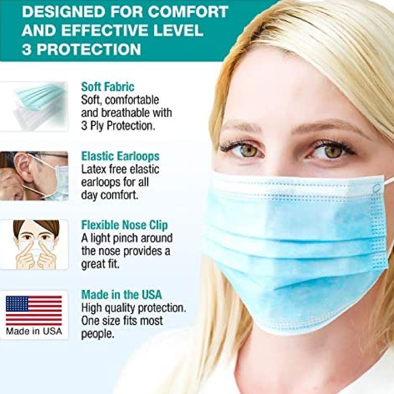 ASTM Level 3 Masks | Made in the USA | 100 masks - Clinical Supplies USA