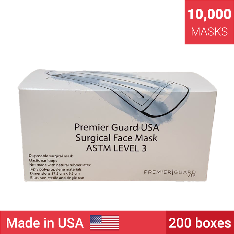 ASTM Level 3 Masks | Made in the USA | 10,000 masks - Clinical Supplies USA