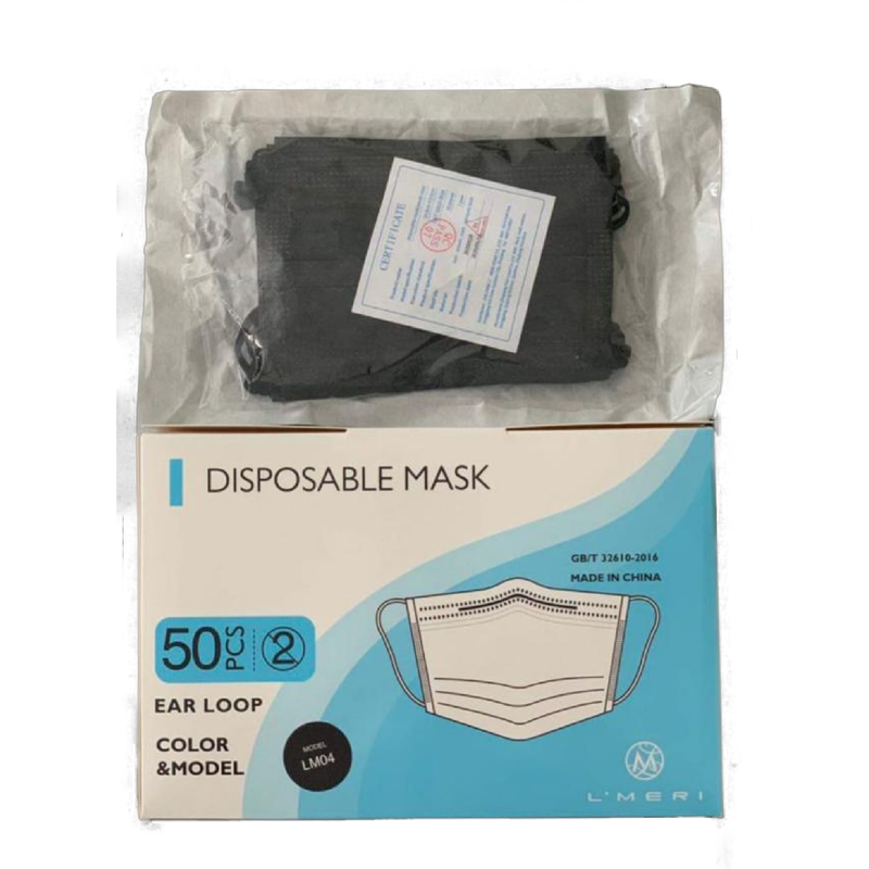 500x Kids disposable masks | Color: Black - Clinical Supplies USA