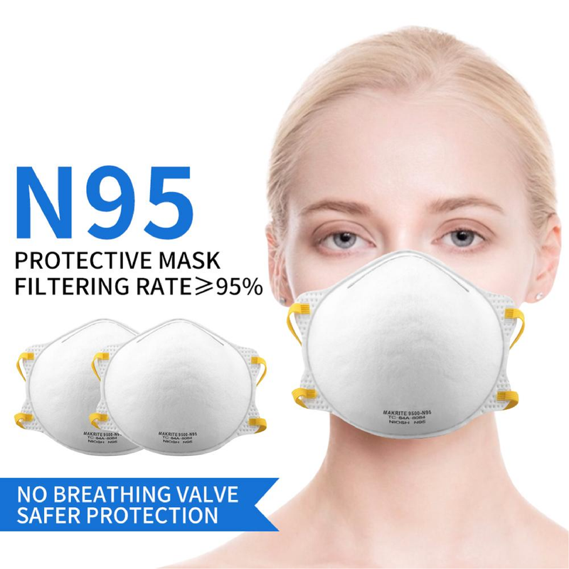Makrite 9500 respirator | N95 respirator x 160 | NIOSH - Clinical Supplies USA