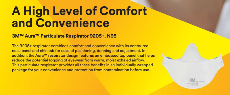 3M 9205+ respirator | N95 respirator x 20 | NIOSH - Clinical Supplies USA