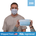 3-ply Disposable Masks <br> (200 masks) <br> IN STOCK