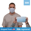 3-ply Disposable Masks <br> (500 masks) <br> IN STOCK - Clinical Supplies USA