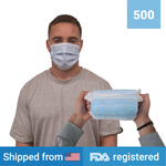 3-ply Disposable Masks <br> (500 masks) <br> IN STOCK