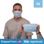 3-ply Disposable Masks <br> (50 masks) <br> IN STOCK