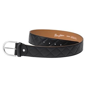 Tailored Sportsman Quilted C Belt - Black / Saddle