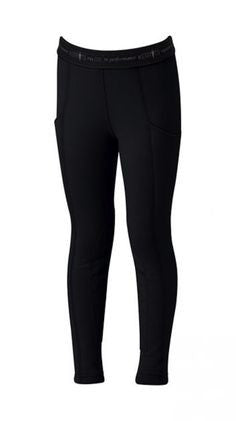 KERRITS KIDS POWERSTRETCH THERMAL POCKET TIGHT BLACK