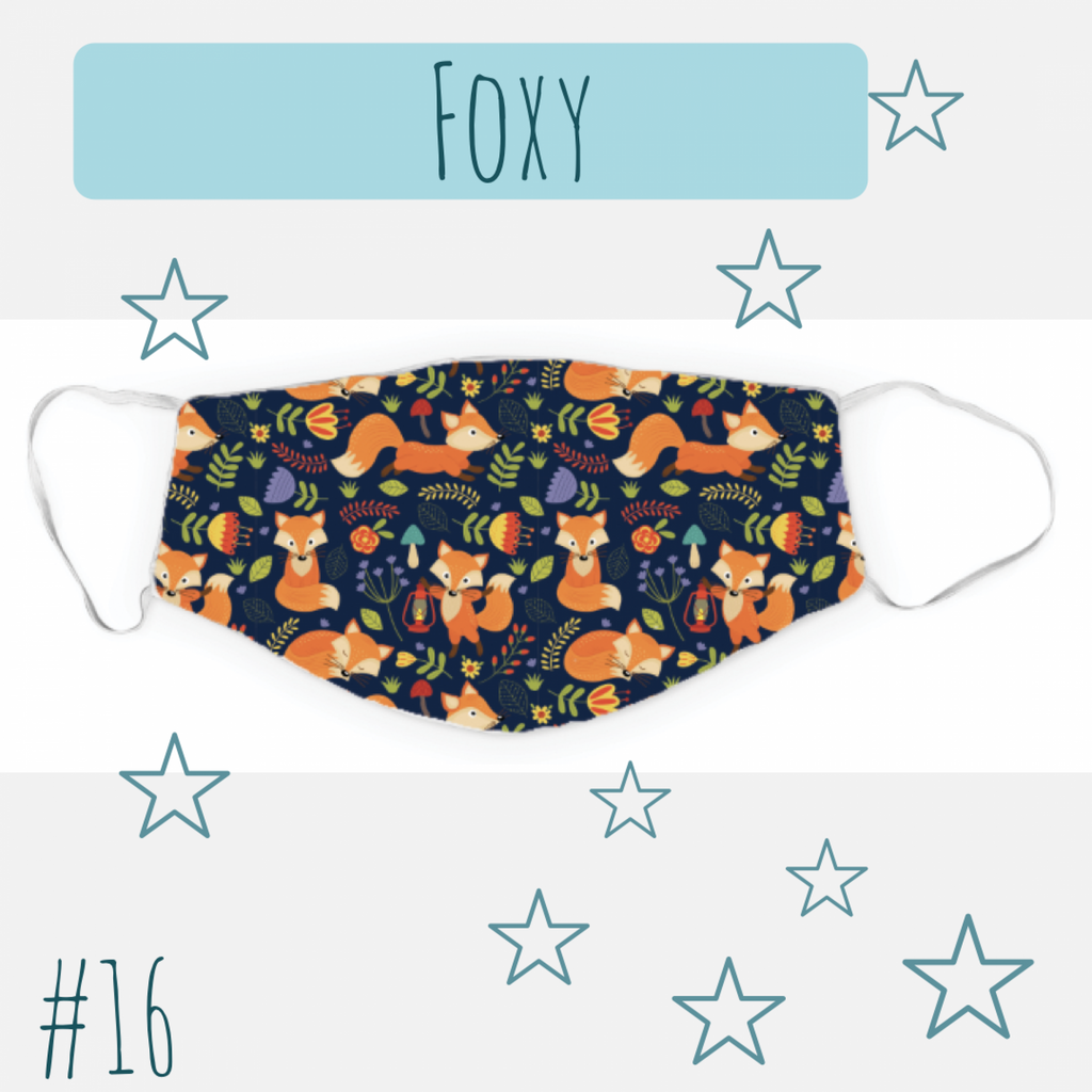 "Dreamers & Schemers Two Layer ""Foxy"" Face Mask"