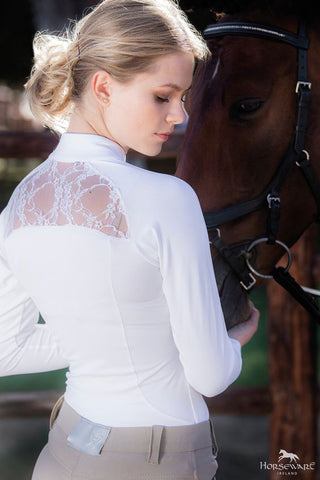 Horseware Sara Competition Shirt Long Sleeve - White