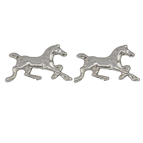 Sterling Silver Running Horse Earrings