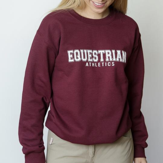 TKEQ EQUESTRIAN ATHLETICS Sweatshirt | Rich Burgundy