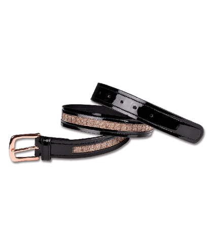 Waldhausen Rose Gold Patent Leather Belt