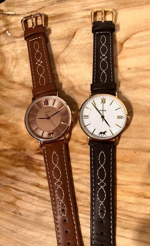 Spiced Equestrian Fancy Stitch Wristwatch