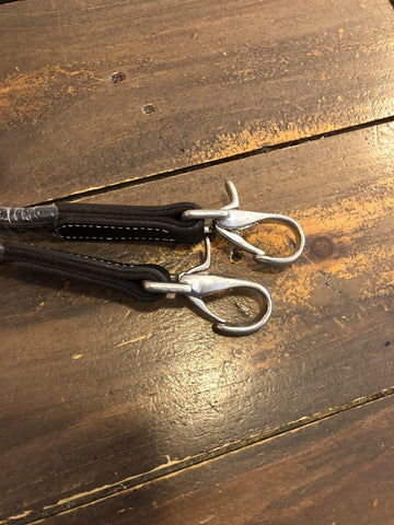 Shires Leather and Elastic Side Reins