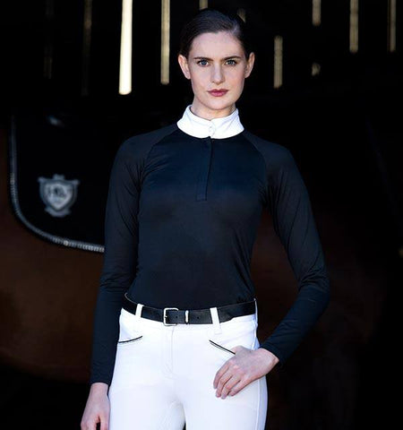 Horseware Sara Competition Shirt Long Sleeve - Black