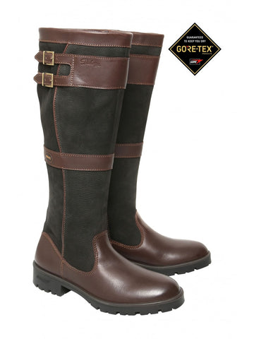 Dubarry of Ireland Longford Leather Boot Black Brown