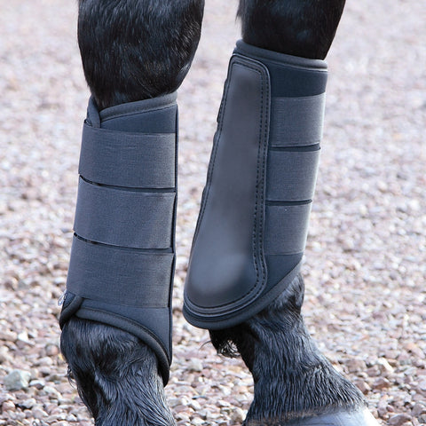 Shires Neoprene Black Brushing Boots