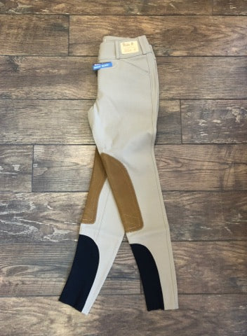 Tailored Sportsman #1927 Boot Sock Lowrise Front Zip Tan with Tan Patch