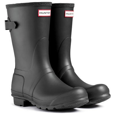 Hunter Boots Women's Original Back Adjust Short Matte Black