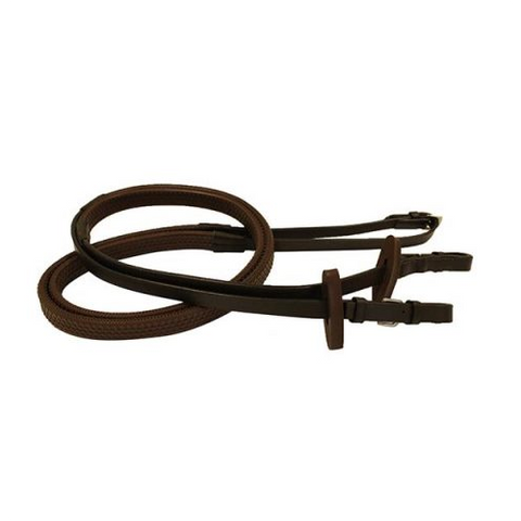 HORSEWARE RAMBO MICKLEM COMPETITION RUBBER REINS - PONY