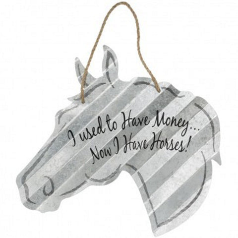 "5"" Corrugated Metal Horse Signs"
