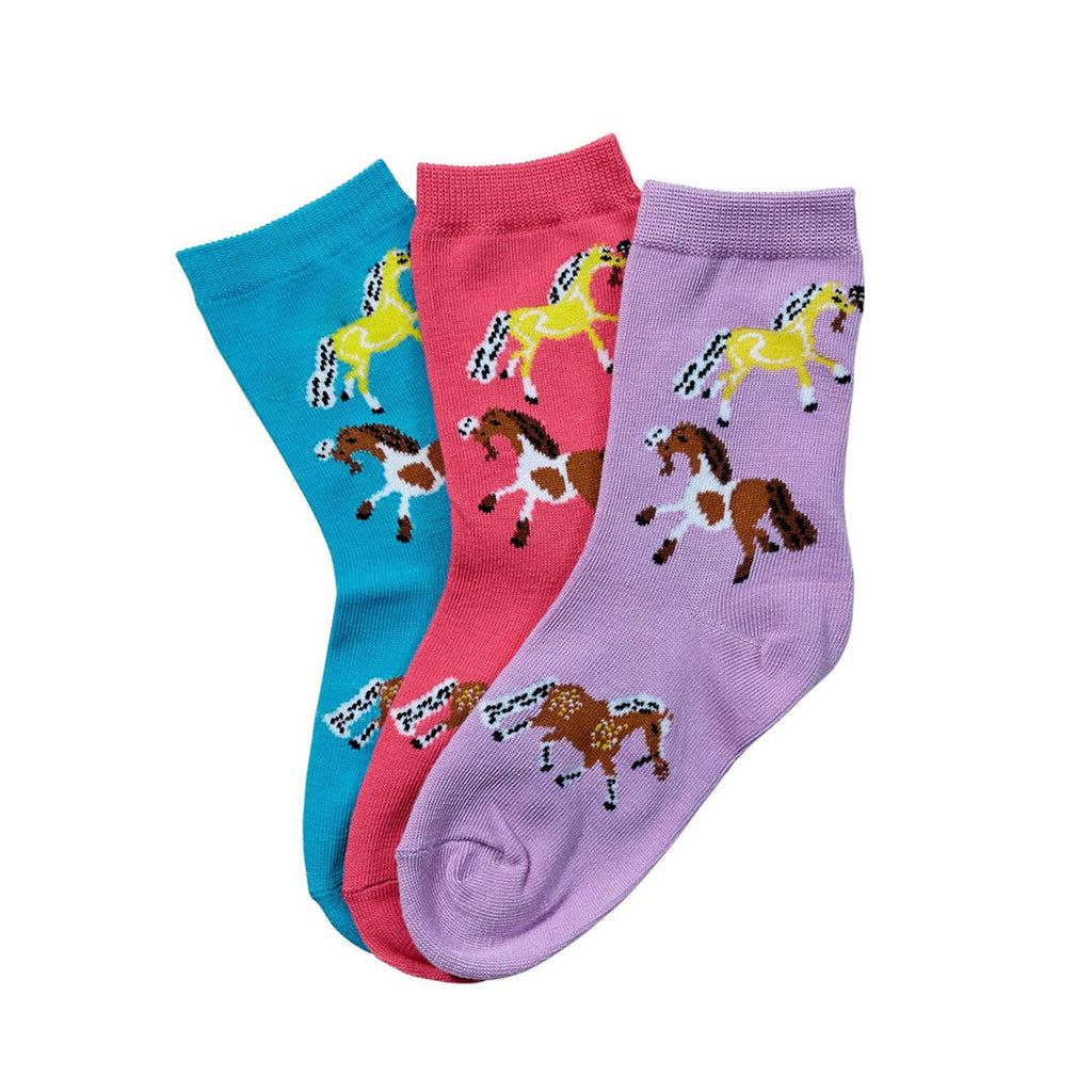Can Pro Kids Puffy Pony Crew Socks
