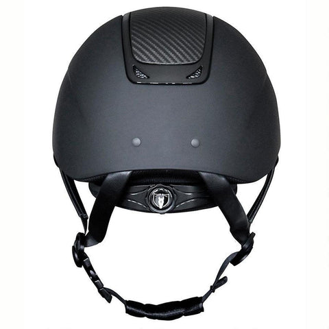 Tipperary Wide Brim Royal Helmet - Carbon Leather