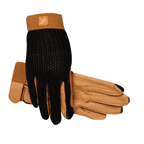 SSG #2500 LYCROCHET GLOVE - BLACK/TAN