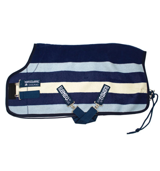 Horseware Rambo Deluxe Fleece - Witney Stripe Navy