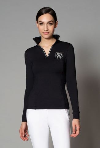 Asmar Juniper 1/4 Zip Shirt - Black