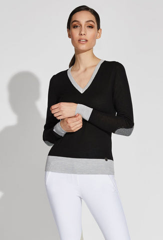 Asmar Equestrian Jane V-Neck Merino Sweater