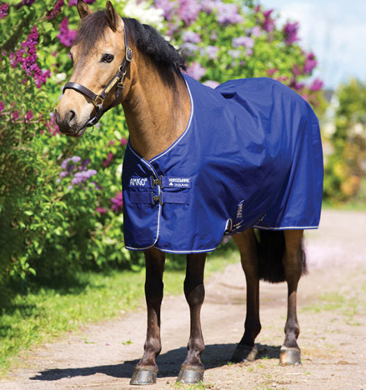 HORSEWARE AMIGO HERO 900 PONY TURNOUT MEDIUM 200G - Atlantic Blue